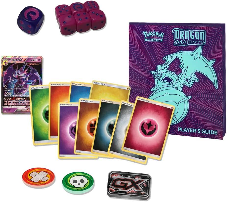 Dragon Majesty /& Shining Legends Players Guides /& Dice Bundle Pokemon TCG