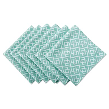 DII Cloth Napkins for  Everyday Place Settings, Family Gatherings, BBQ's, Holiday Parties, & Catering Events, Oversized & Stain Resistant for Indoor/Outdoor Use (20x20  - Set of 6) Aqua Diamond