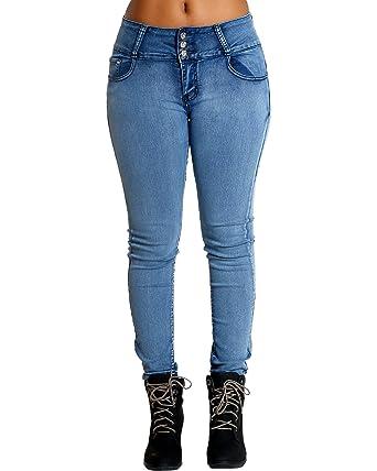 6a9d85d2a77 Image Unavailable. Image not available for. Color  VIM VIXEN Womens Light  Blue Three Button Colombian Jean ...