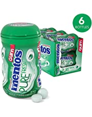 Mentos Pure Fresh Sugar-Free Chewing Gum with Xylitol, Spearmint, 50 Piece Bottle (Pack of 6)
