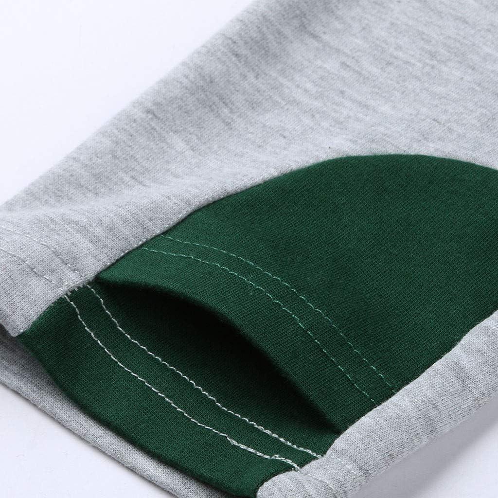 Women Maternity Nursing Tops Stripe Long Sleeve Layering Breastfeeding Hoodie Sweatshirts with Pocket