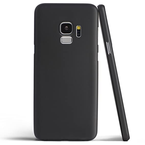 various colors e54c6 19a5c totallee Galaxy S9 Case, Thinnest Cover Premium Ultra Thin Light Slim  Minimal Anti-Scratch Protective - for Samsung Galaxy S9 (Pitch Black)