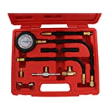 ABN Fuel Injection Pressure Test Kit – Comprehensive Universal Set with IMPROVED Flex Hoses, Fittings, and Instructions