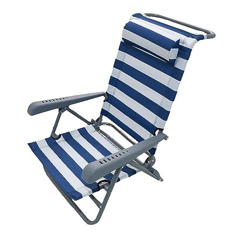 Homecall - Silla de camping (azul y blanco)