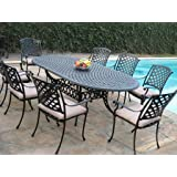 Cast Aluminum Outdoor Patio Furniture 9 Piece Extension Dining T