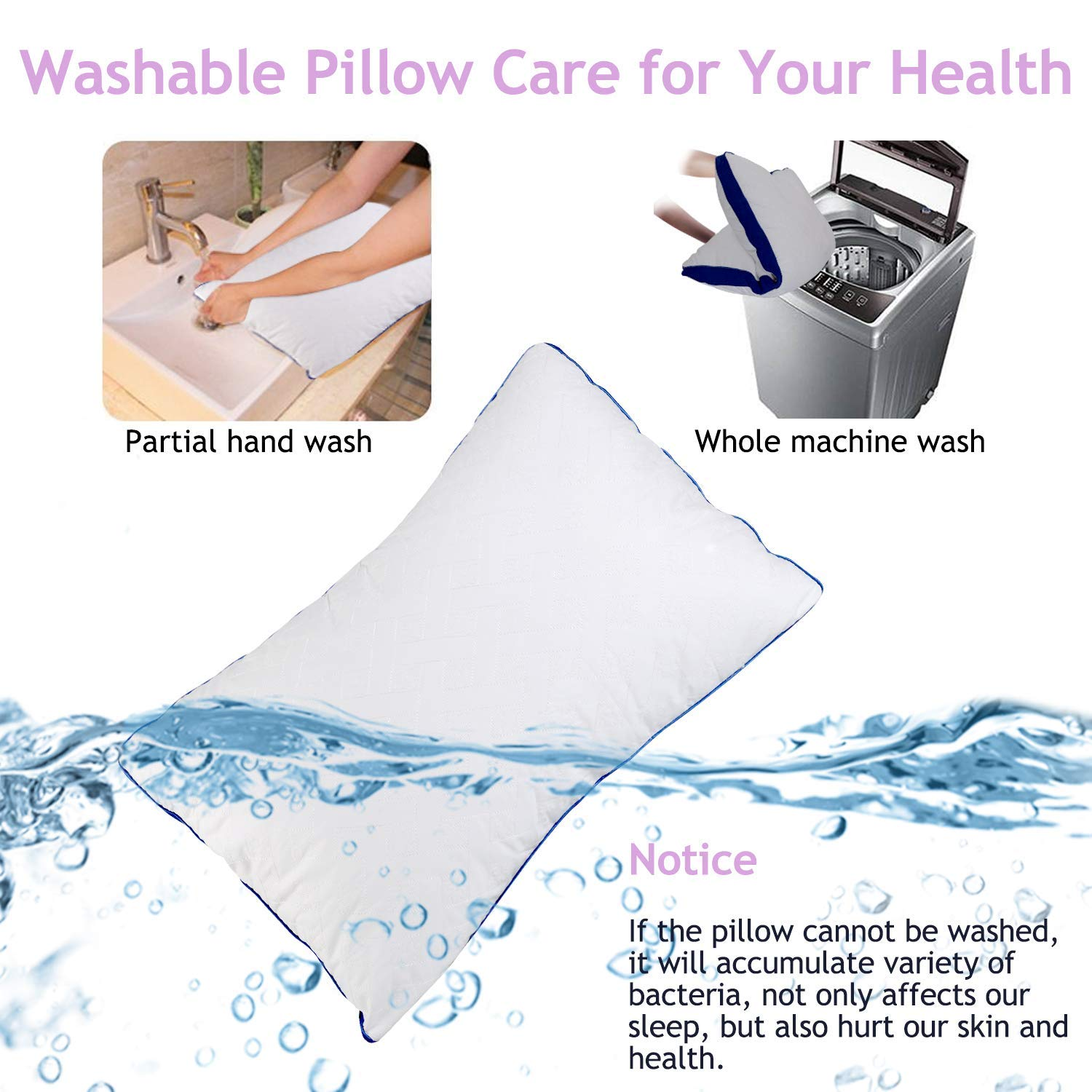 """All of The Softness of Down Pillows 12/"""" X 21/"""" MoonRest Synthetic Down Pillow Insert Hypoallergenic Down Alternative Pillow Form Stuffer for Sofa Shams Decorative Pillow Cushion and Bed Pillow"""