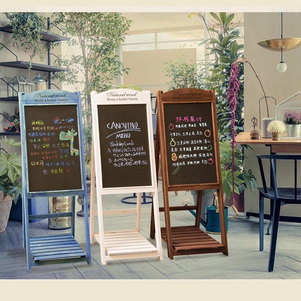 Estante de Madera Retro Creativo de la Pizarra del del del Soporte Adornos Tienda de té, cafetería, Restaurante, floristería, Decoraciones de la Flor (Color : B) d7cb3f