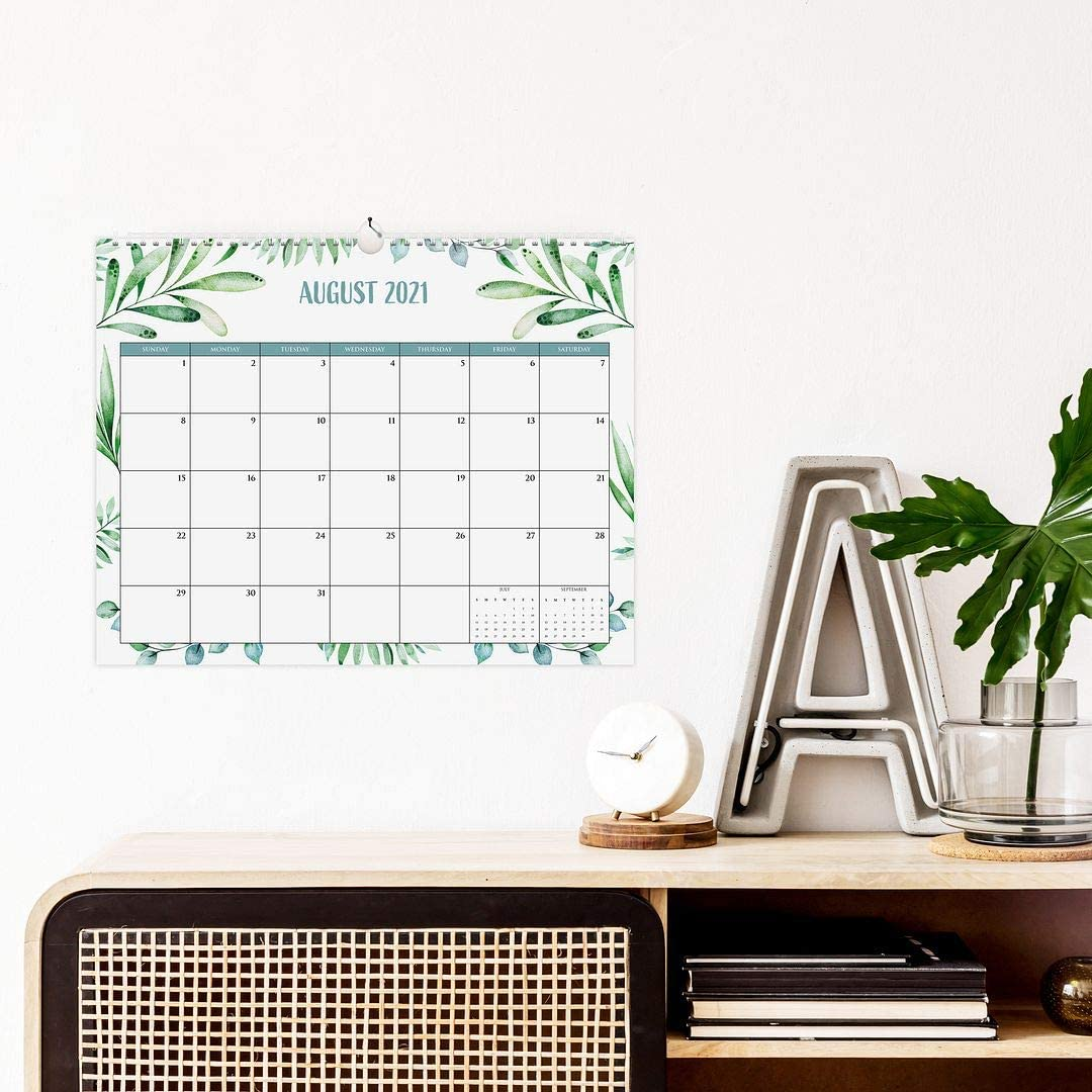 Runs from January 2021 Until July 2022 The Perfect Monthly Calendar for Easy Planning Aesthetic Greenery Wall Calendar
