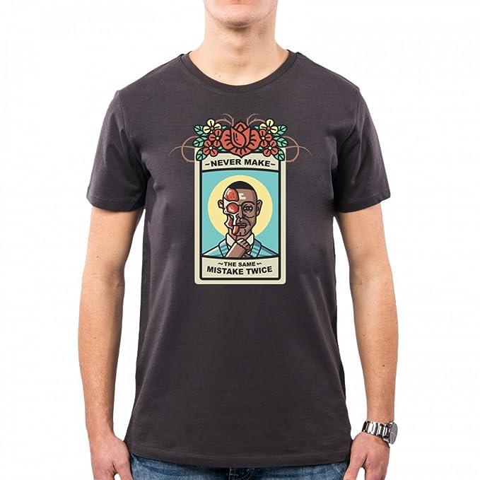 PacDesign Camiseta Hombre Breaking Bad Los Pollos Hermanos Gus Fring Giancarlo Esposito Bk0000a, S, Asphalt: Amazon.es: Ropa y accesorios
