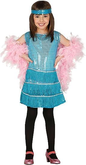 Guirca - Disfraz Charleston con vestido y diadema, para niños de 7 ...