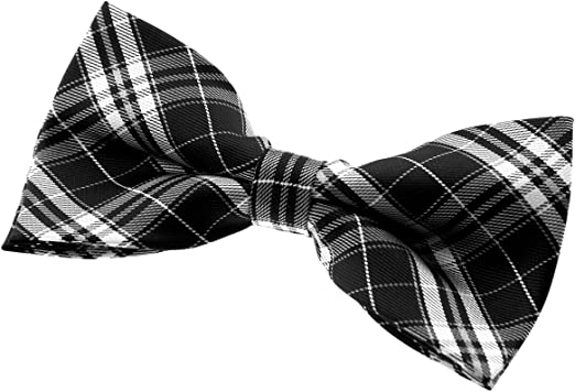 Retreez Elegant Plaid Check Style Woven Pre-tied Bow Tie Various Colors 5