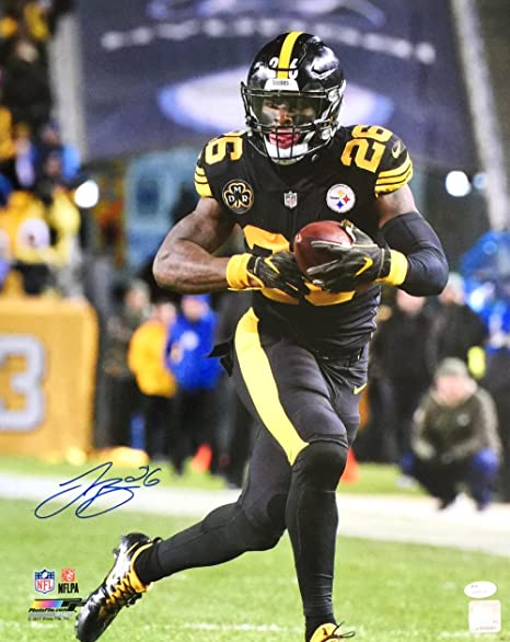 new concept 253fc 63748 Le'Veon Bell Signed 16x20 Pittsburgh Steelers Color Rush ...