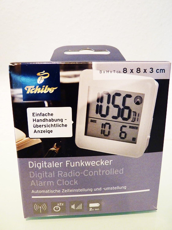 TCM Tchibo LCD Radio despertador Blanco ajuste de tiempo ...