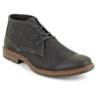 Jeffrey Tyler Mens Greenwich Chukka Boot Shoes, Black, US 8
