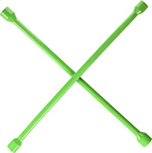 OEM TOOLS 20561 20-Inch Universal Heavy Duty Lug Nut, 4-Way Cross Wrench | SAE & Metric Wrench | Classic Cross Welded Design for Plenty of Leverage and Torque | Popular Bright Green Color