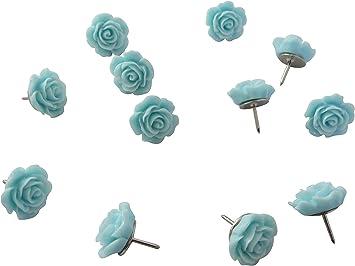 Decorative push pin 10 teal thumb tacks Cork Memory Board Office School Decor