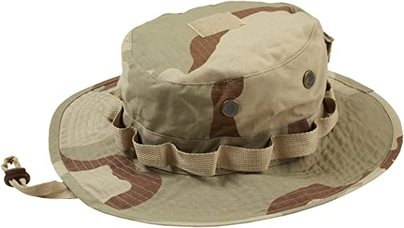 US GI Jungle Boonie Tropical Hat Safari Hat Sun Hat with Band Camo Fishing