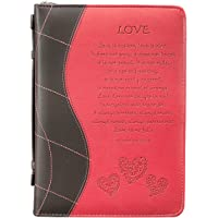 "Pink ""Love"" Bible / Book Cover - 1 Corinthians 13:4-8 (Large)"