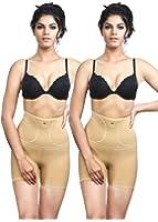 Adorna Non-Rolling Tummy Tucker Shorts- Combo of 2 Ladies Shapewear