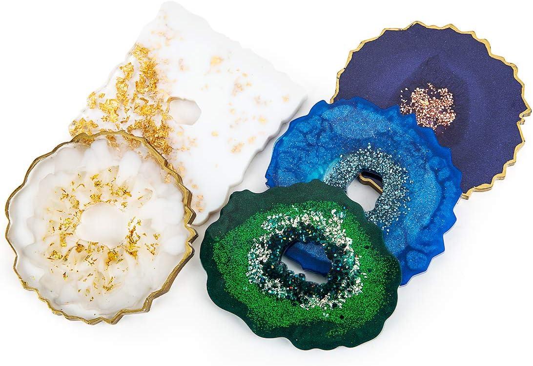 Rosie Posie Geode Coasters