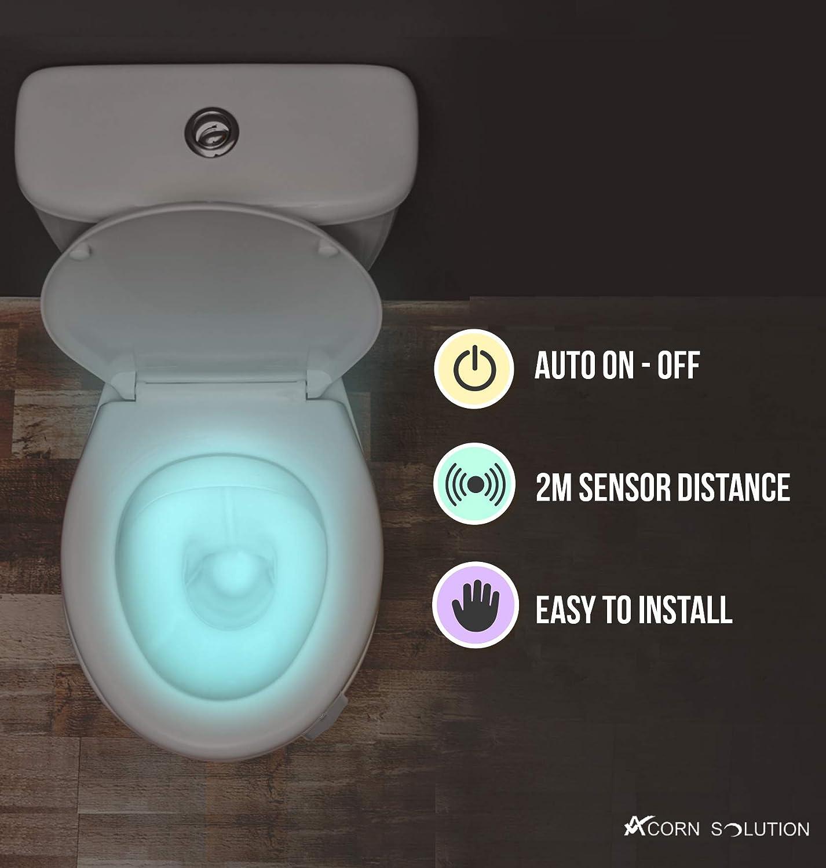 AcornSolution Toilette Nachtlicht Bewegungsmelder 20 Farbwechsel ...