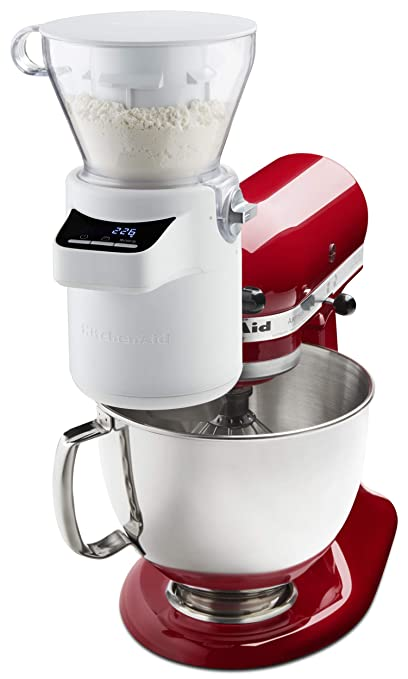 d31bdb3fe21 Amazon.com  KitchenAid KSMSFTA Sifter + Scale Attachment 4 Cup ...