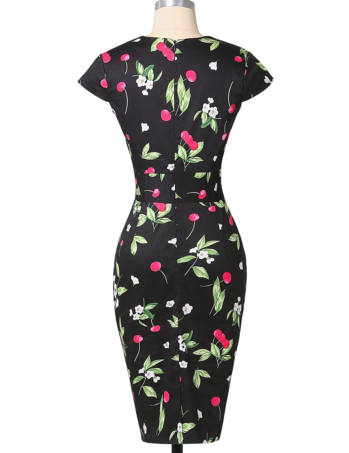 Belle Poque Retro Dress Grace Karin® mujeres vintage Bodycon para cóctel vestidos Cap Sleeve cl7597 Floral-5(CL7597) XXX-Large: Amazon.es: Ropa y accesorios