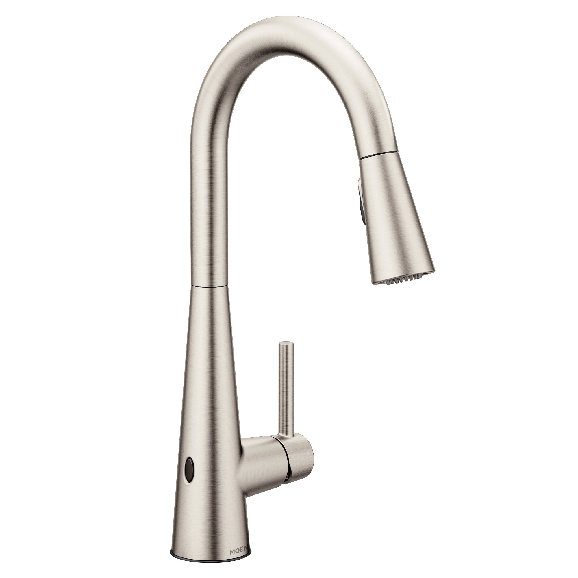 Moen 7864EWSRS Sleek Reflex Motionsense Wave Sensor Touchless One-Handle High Arc Pulldown Modern Kitchen Faucet Featuring Power Clean, Spot Resist Stainless by Moen