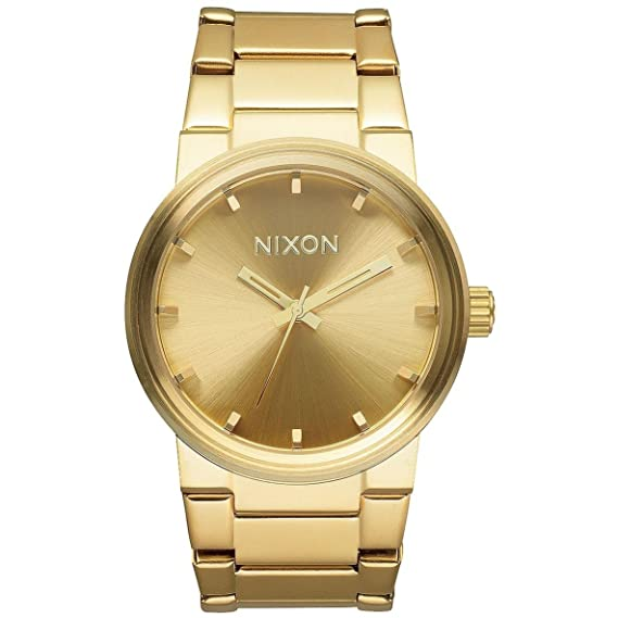 Amazon.com: Nixon Unisex Cannon Polished Gunmetal/Lum Watch: Nixon: Watches
