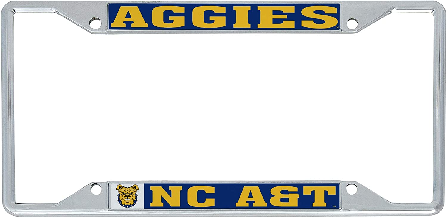 Desert Cactus North Carolina A /& T State University HBCU Aggies NCAA Metal License Plate Frame for Front Back of Car Officially Licensed Mascot