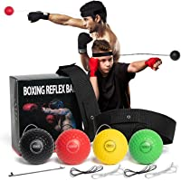 OLIKER Boxing Reflex Ball Family Pack Plus with Adjustable Headband,4 Boxing Ball Suitable Reaction,Agility,Punching…