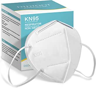 KN95 Face Mask 50 Pack Face Protection Adult Masks, 5 Layer Face Protection Filtration>95% Safety Masks