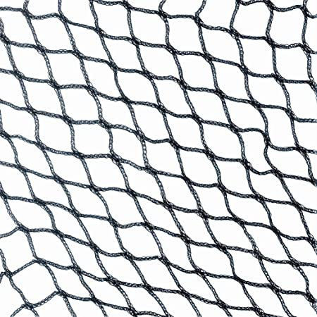 Black Commercial Knitted Anti Bird Netting 10 Metres Wide x  25 Metres Long