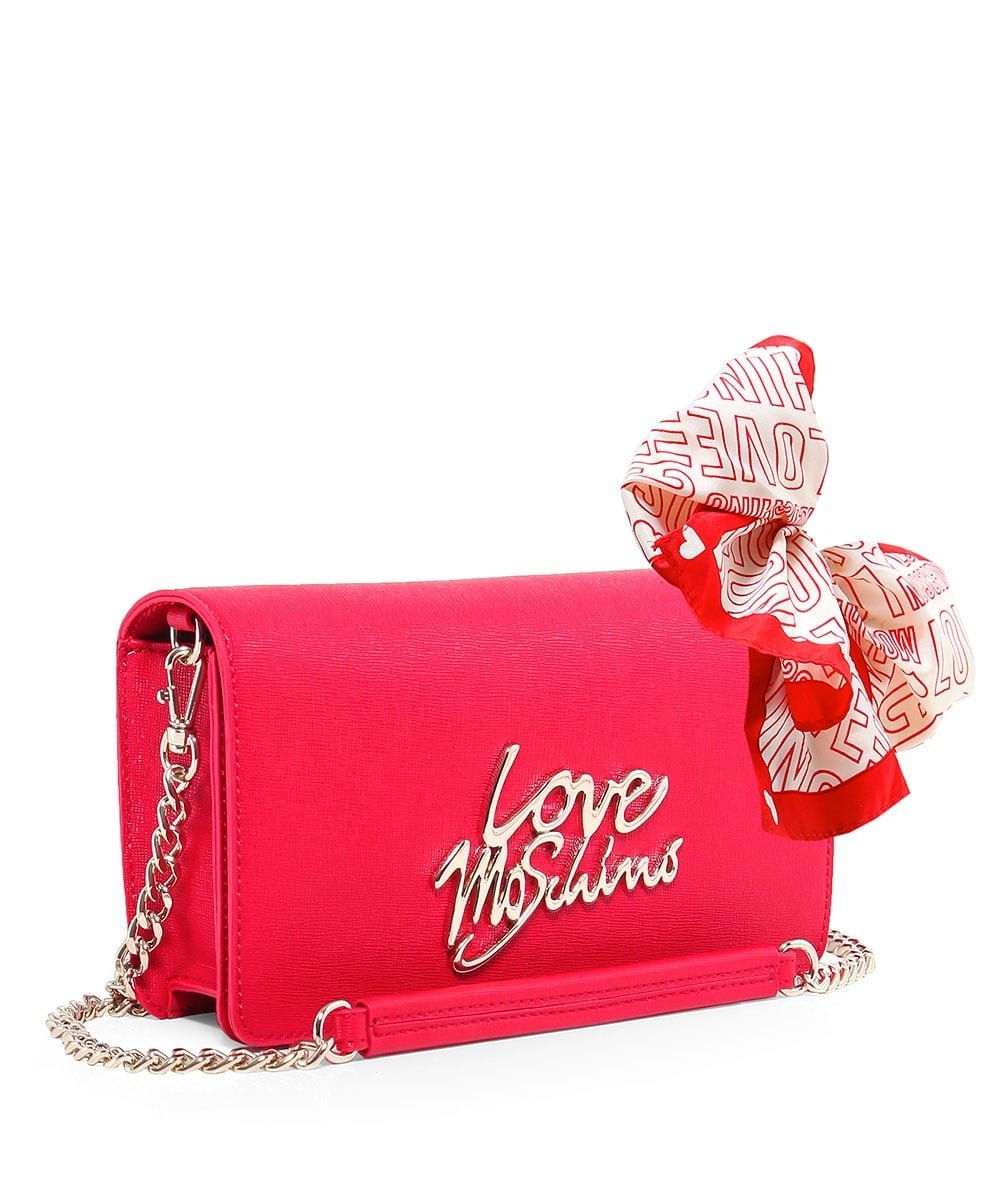 Love Moschino Women's Leather Small Crossbody Bag One Size Red by Love Moschino (Image #2)