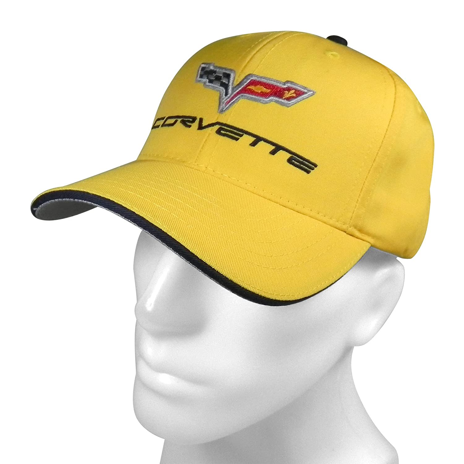 Official RW Chevrolet Corvette C6 Logo Yellow Baseball Cap