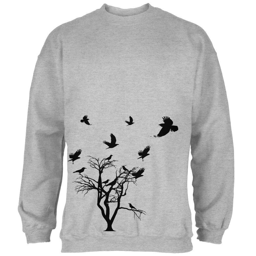 Old Glory Crow Raven Flying Winter Tree Mens Sweatshirt
