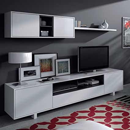 Mobelcenter - Mueble de Comedor Moderno, Color Blanco Brillo ...