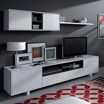 Mobelcenter - Mueble de Comedor Moderno, Color Blanco Brillo ...