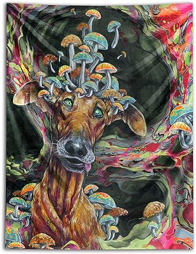 Third Eye Tapestries Dwight s Den Wall Tapestry by Black Ink Art – Wildlife Art Tapestry – Hanging Modern Art Tapestry 60×80
