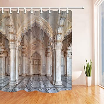 Gohebe Eyptian Decor Dusche Vorhänge By Palace Building Stein Säulen Delectable Decoration And Design Building