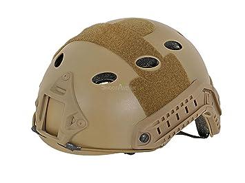Táctica militar rápida réplica de Airsoft Paintball casco base Jump desierto marrón Coyote