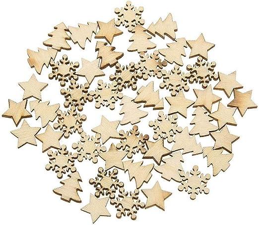 Sternform Holzstücke Holz Anhänger Geschenkanhänger Basteln Hochzeit