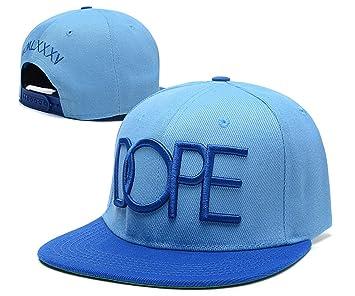 snapback DOPE sombreros / gorras (azul cielo con el logotipo azul ...