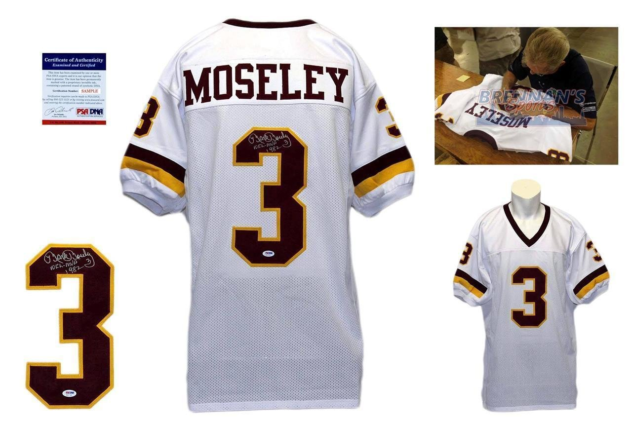Autographed Mark Moseley Jersey 1982 MVP PSA/DNA Certified Autographed NFL Jerseys