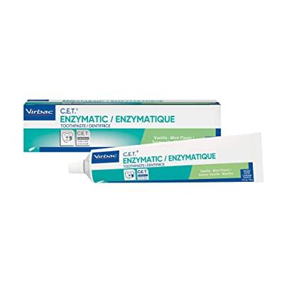 Virbac CET Enzymatic Toothpaste| Eliminates Bad Breath by Removing Plaque and Tartar Buildup