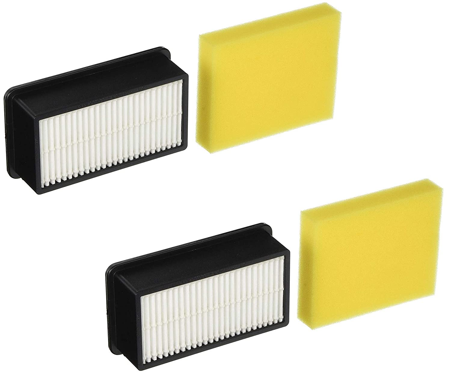 1 Pre-Motor and 1 Post Motor Filter Bissell 1008 Filter Pack