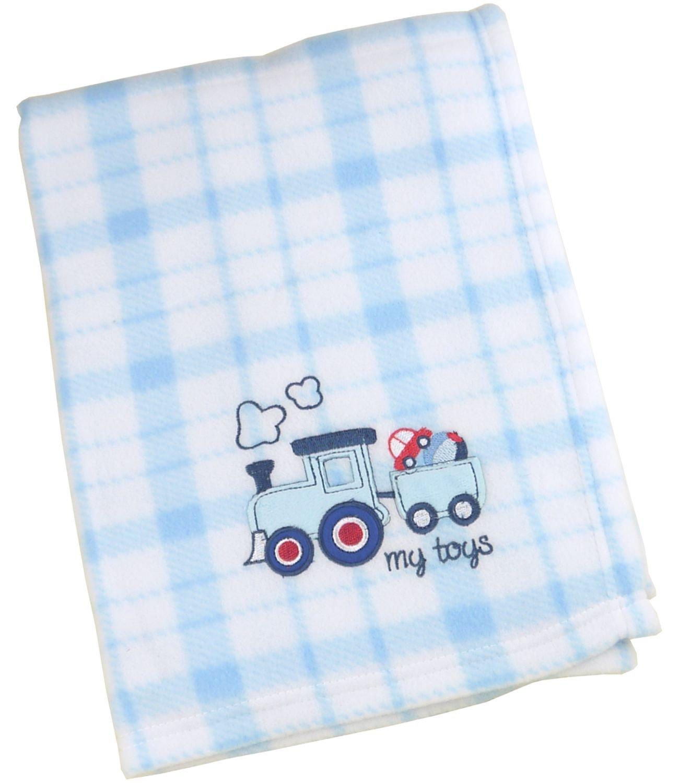 BabyPrem Baby Bedding Childs Pushchair Pram Blanket Soft Fleece Fleecy Blue Pink