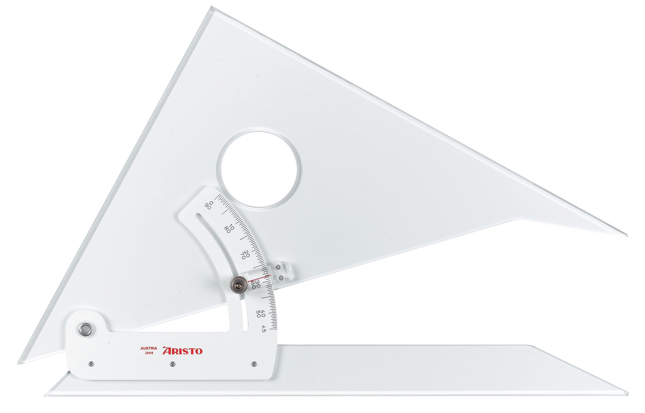 Aristo : Adjustable Set Square : 45 Degrees : 10in by Aristo