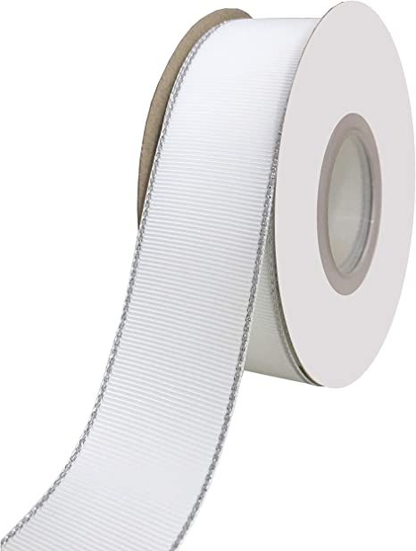 Select Length//Yards 3 Inch WHITE Grosgrain Polyester Ribbon Made In USA