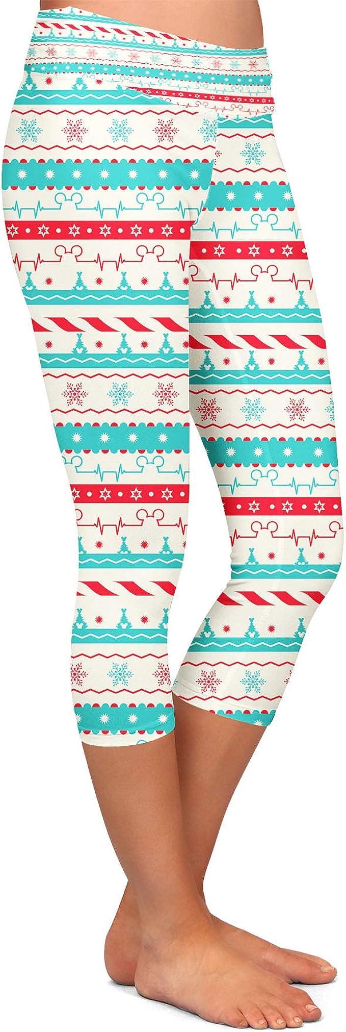 Christmas Candycane Disney Heartbeat Kids Capri Leggings